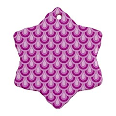 Awesome Retro Pattern Lilac Snowflake Ornament (2 Side) by ImpressiveMoments