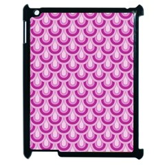 Awesome Retro Pattern Lilac Apple Ipad 2 Case (black) by ImpressiveMoments