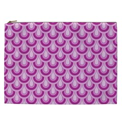 Awesome Retro Pattern Lilac Cosmetic Bag (xxl)  by ImpressiveMoments
