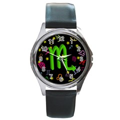 Scorpio Floating Zodiac Sign Round Metal Watches by theimagezone