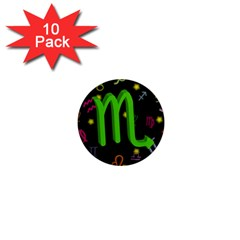 Scorpio Floating Zodiac Sign 1  Mini Magnet (10 Pack)  by theimagezone