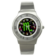 Scorpio Floating Zodiac Sign Stainless Steel Watches by theimagezone