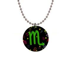 Scorpio Floating Zodiac Sign Button Necklaces by theimagezone