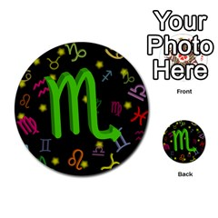 Scorpio Floating Zodiac Sign Multi Purpose Cards (round)  by theimagezone