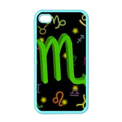 Scorpio Floating Zodiac Sign Apple Iphone 4 Case (color) by theimagezone