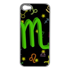Scorpio Floating Zodiac Sign Apple Iphone 5 Case (silver) by theimagezone