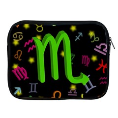 Scorpio Floating Zodiac Sign Apple iPad 2/3/4 Zipper Cases by theimagezone