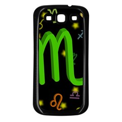 Scorpio Floating Zodiac Sign Samsung Galaxy S3 Back Case (black) by theimagezone