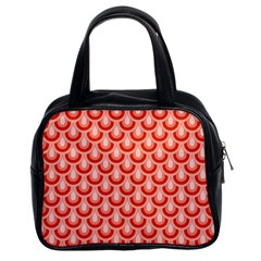 Awesome Retro Pattern Red Classic Handbags (2 Sides) by ImpressiveMoments