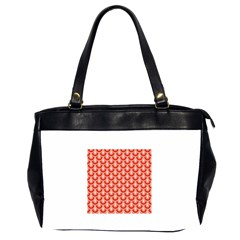 Awesome Retro Pattern Red Office Handbags (2 Sides)  by ImpressiveMoments