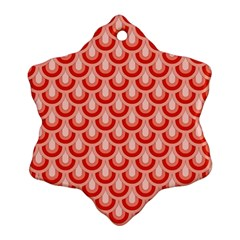 Awesome Retro Pattern Red Ornament (snowflake)