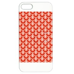 Awesome Retro Pattern Red Apple Iphone 5 Hardshell Case With Stand by ImpressiveMoments