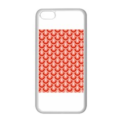Awesome Retro Pattern Red Apple Iphone 5c Seamless Case (white) by ImpressiveMoments