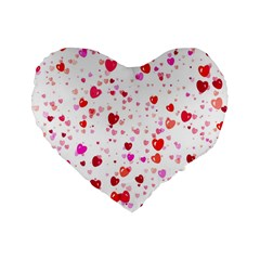 Heart 2014 0601 Standard 16  Premium Flano Heart Shape Cushions by JAMFoto