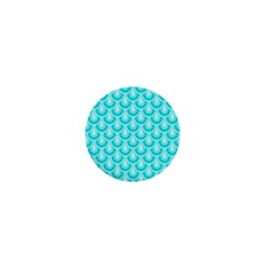 Awesome Retro Pattern Turquoise 1  Mini Buttons by ImpressiveMoments