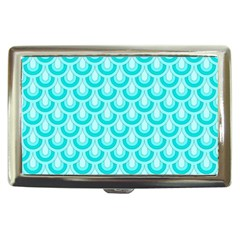 Awesome Retro Pattern Turquoise Cigarette Money Cases by ImpressiveMoments