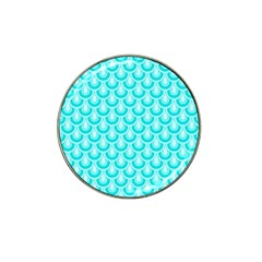 Awesome Retro Pattern Turquoise Hat Clip Ball Marker (10 pack) by ImpressiveMoments