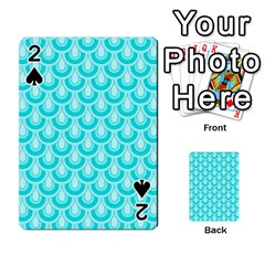Awesome Retro Pattern Turquoise Playing Cards 54 Designs