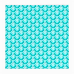 Awesome Retro Pattern Turquoise Medium Glasses Cloth (2 Side) by ImpressiveMoments