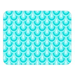 Awesome Retro Pattern Turquoise Double Sided Flano Blanket (large)  by ImpressiveMoments