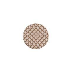 Retro Mirror Pattern Brown 1  Mini Buttons by ImpressiveMoments