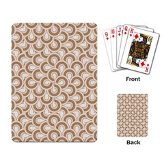 Retro Mirror Pattern Brown Playing Card by ImpressiveMoments