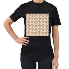 Retro Mirror Pattern Brown Women s T Shirt (black) by ImpressiveMoments
