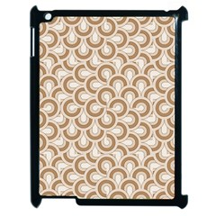 Retro Mirror Pattern Brown Apple Ipad 2 Case (black) by ImpressiveMoments