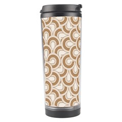 Retro Mirror Pattern Brown Travel Tumblers