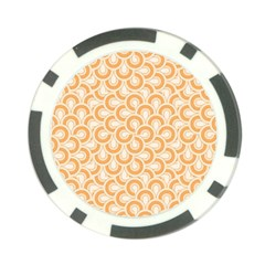 Retro Mirror Pattern Peach Poker Chip Card Guards (10 pack)  by ImpressiveMoments