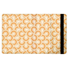 Retro Mirror Pattern Peach Apple Ipad 2 Flip Case by ImpressiveMoments