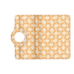 Retro Mirror Pattern Peach Kindle Fire Hd (2013) Flip 360 Case by ImpressiveMoments
