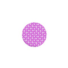 Retro Mirror Pattern Pink 1  Mini Buttons by ImpressiveMoments