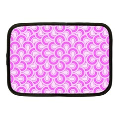 Retro Mirror Pattern Pink Netbook Case (medium)  by ImpressiveMoments