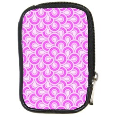 Retro Mirror Pattern Pink Compact Camera Cases by ImpressiveMoments