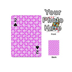 Retro Mirror Pattern Pink Playing Cards 54 (mini)  by ImpressiveMoments
