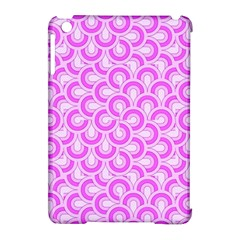 Retro Mirror Pattern Pink Apple Ipad Mini Hardshell Case (compatible With Smart Cover) by ImpressiveMoments