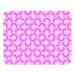 Retro Mirror Pattern Pink Double Sided Flano Blanket (large)  by ImpressiveMoments