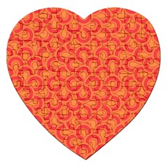 Retro Mirror Pattern Red Jigsaw Puzzle (Heart) by ImpressiveMoments