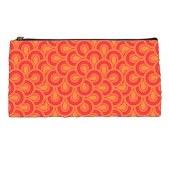 Retro Mirror Pattern Red Pencil Cases by ImpressiveMoments