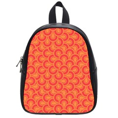 Retro Mirror Pattern Red School Bags (small)  by ImpressiveMoments