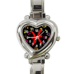 Pisces Floating Zodiac Sign Heart Italian Charm Watch by theimagezone