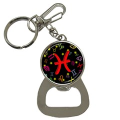 Pisces Floating Zodiac Sign Bottle Opener Key Chains by theimagezone