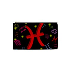 Pisces Floating Zodiac Sign Cosmetic Bag (small)  by theimagezone
