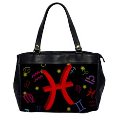 Pisces Floating Zodiac Sign Office Handbags by theimagezone