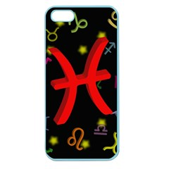 Pisces Floating Zodiac Sign Apple Seamless Iphone 5 Case (color) by theimagezone
