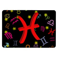 Pisces Floating Zodiac Sign Samsung Galaxy Tab 8 9  P7300 Flip Case by theimagezone