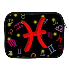 Pisces Floating Zodiac Sign Apple Ipad 2/3/4 Zipper Cases by theimagezone