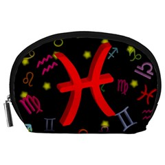 Pisces Floating Zodiac Sign Accessory Pouches (large)  by theimagezone