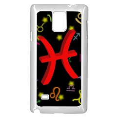 Pisces Floating Zodiac Sign Samsung Galaxy Note 4 Case (white) by theimagezone
